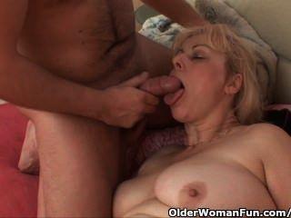 胖的奶奶得到了她的屁股
