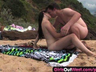 cutie他媽的一個陌生人在海灘