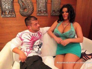 大titted安吉麗娜castro他媽的一個旅遊在邁阿密!