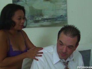 亞洲成熟女按摩師公雞治療