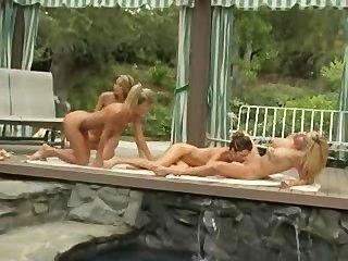 游泳池邊的女同性戀四人組