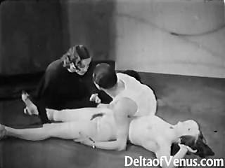 葡萄酒色情1930年ffm三人組裸體酒吧
