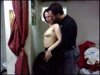 阿拉伯熱和可愛的夫婦