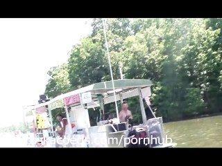 從ozarks密蘇里的黨cove湖的現實生活家庭錄影
