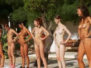 六隻赤裸的小雞從俄羅斯的水池