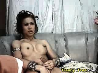 tranny在g字符串手淫