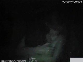 汽車性交他媽的在晚上