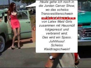 latex maid luder in denmüllpresswagenrein du scheiss transvestitenschwein