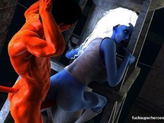 assazell和性感的藍色蕩婦