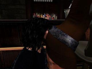 ornella la femme de clyde qui se fa fa prendre au comptoir par owardo