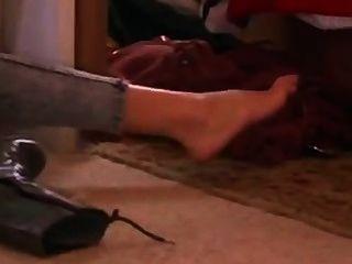 性感和熱的gal小配件在襪子顯示她性感的腳