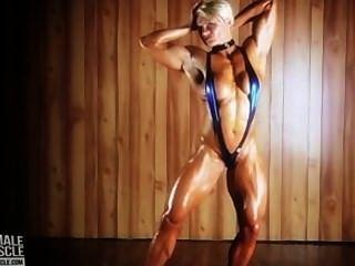 巨大的女子健美運動員brigita brezovac
