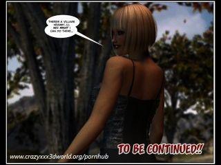 3d漫畫:漫步的公主。情節1 2