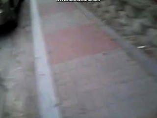韓國迪克暴露在街上