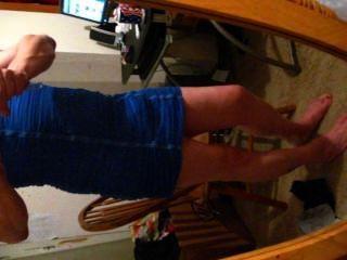 藍色連衣裙1