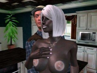 3 d外星家庭主婦喜歡她的男人