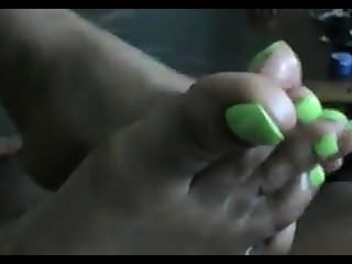 綠色腳趾腳