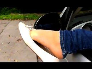 漂亮的腳在balerinas!