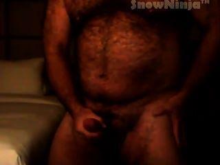 毛茸茸的肌肉熊網絡攝像頭cumshot