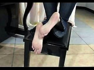 中國腳摩擦和擺姿勢