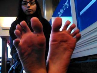 性感的印度女孩腳黑色腳趾