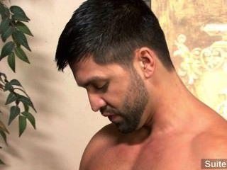激情的黑髮同性戀多米尼加pacifico給頭和得到性交