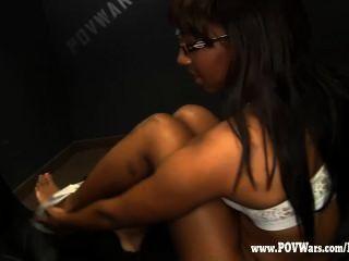 pov戰爭黑人女孩他媽的白人數字1
