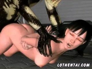 3d女孩被食肉動物