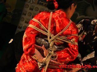 瘋狂的規則,iori y anraro shibari他媽的表演在舞台上viciosillos.com