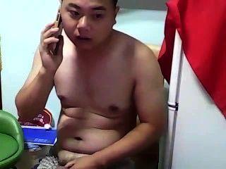 中國熊男孩jerkoff cumshot