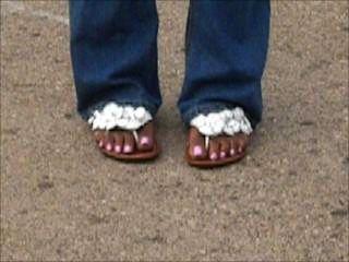 敞篷小雞性感的腳趾