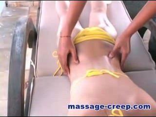 韓國女孩按摩油戶外