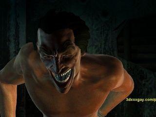 羅賓經驗小丑地獄第一隻手,得到他媽的硬1