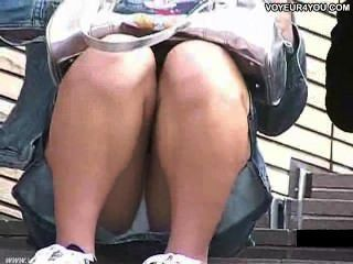 樓梯打開寬腿下內褲