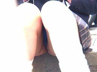 公共緊身短褲露出