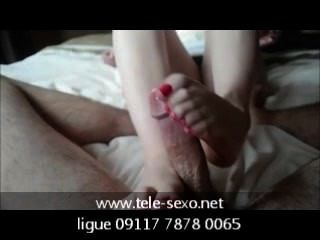 hd sensual手活和footjob從www.tele sexo.net 09117 7878 0065