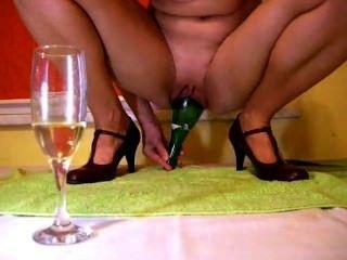 香檳瓶裡面的貓