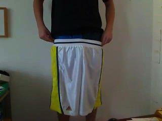 下垂阿迪達斯籃球隊和緞子拳擊手