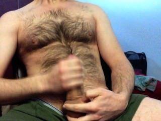 在我的毛茸茸的胸部吹一個大負載!