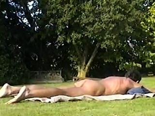外面日光浴