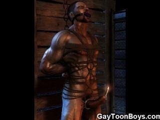 3d肌肉同性戀他媽的直男孩!